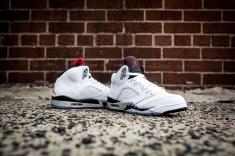 Air Jordan V White Cement -8