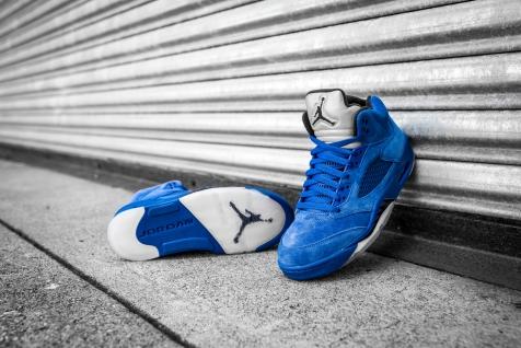 Air Jordan 5 'Blue Suede' 136027 401-13