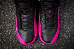 Air Jordan 12 Retro black-pink-10