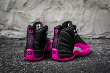 Air Jordan 12 Retro black-pink-7