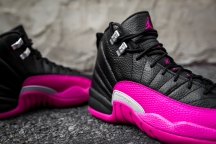 Air Jordan 12 Retro black-pink-8