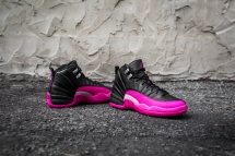 Air Jordan 12 Retro black-pink-9