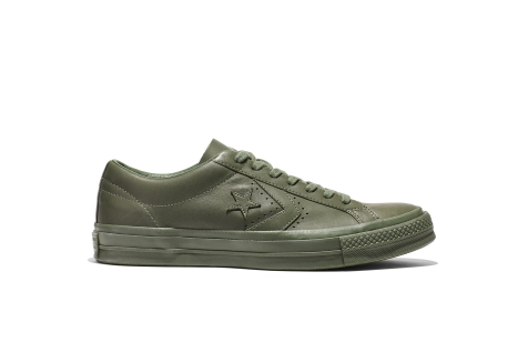 Converse x Engineered Garments One Star olive side