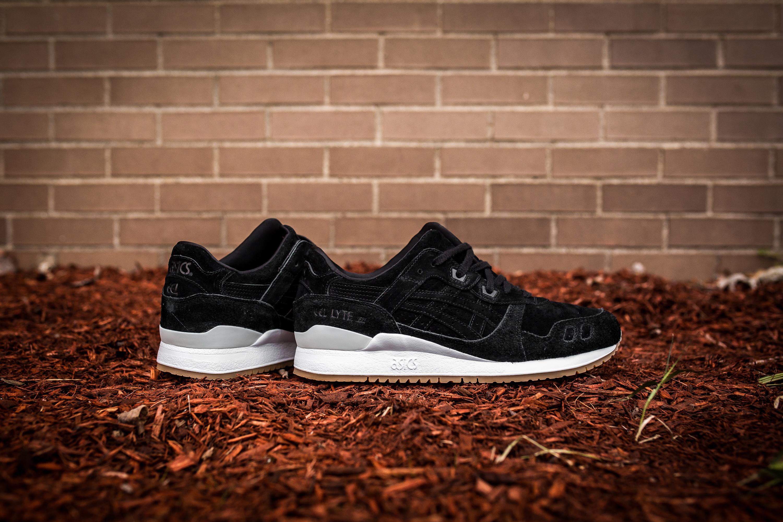 sports shoes 33b94 8d4d2 norway asics gel lyte 3 black suede badfc 4db4d