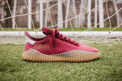 adidas kamanda maroon side