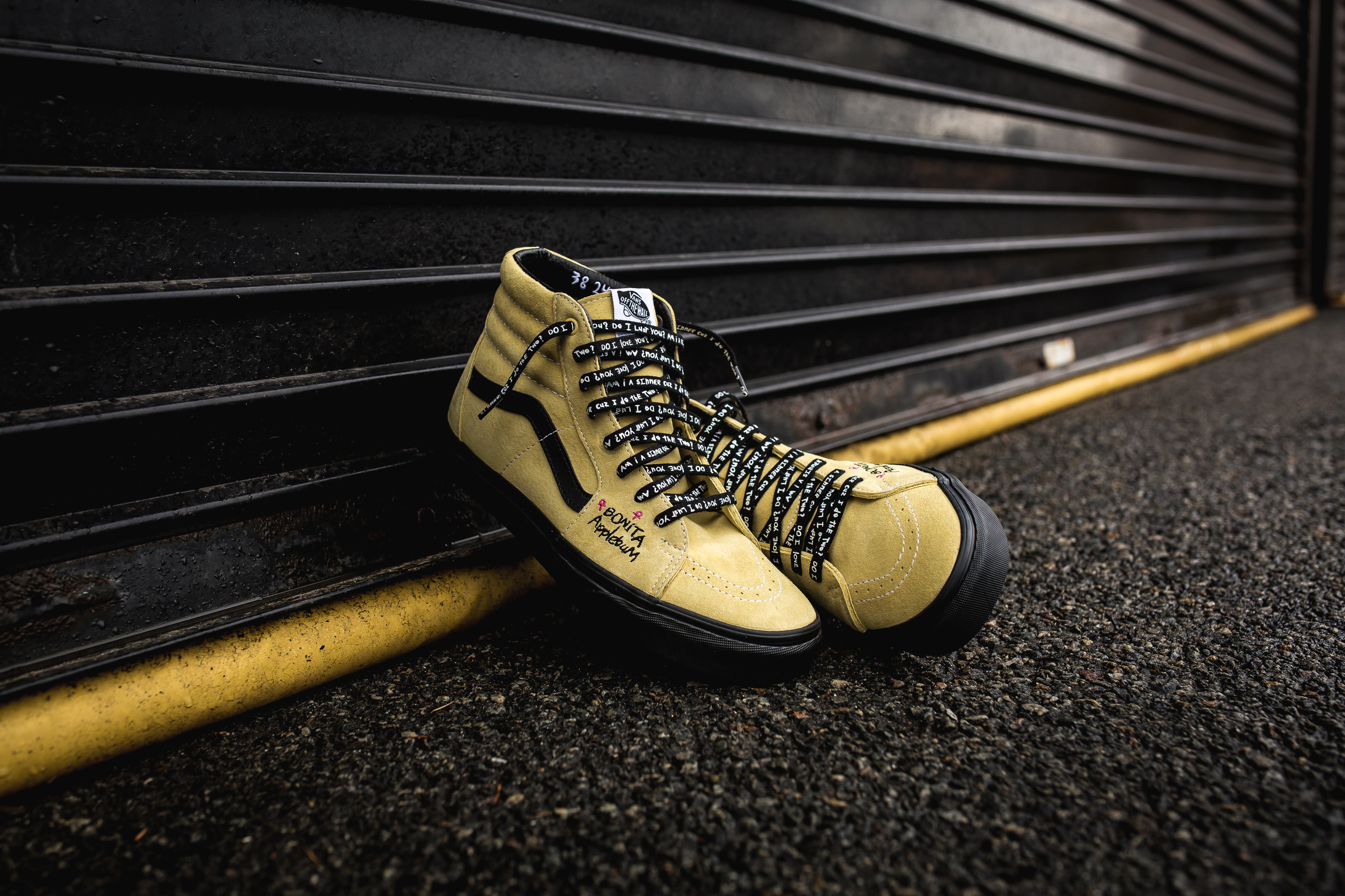 81ad1f02bae ... run shoes ATCQ x Vans Sk8-Hi – Mellow YellowBlack (85) ...
