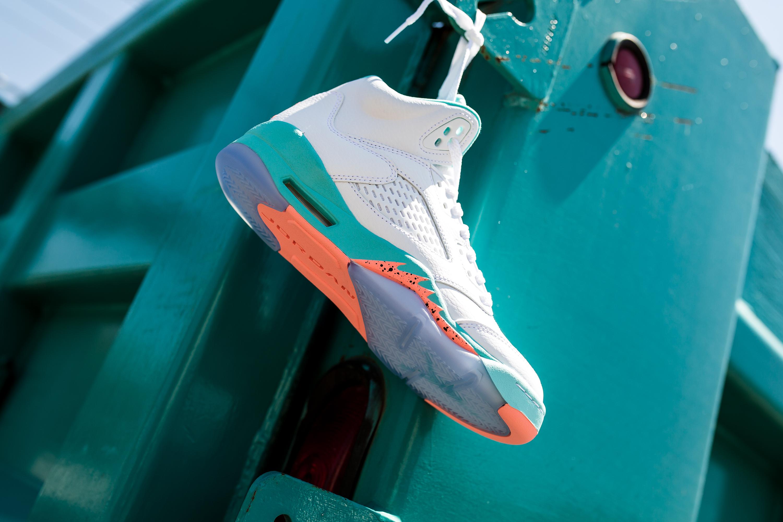 c5c7a3f3052 Jordan Retro 5 Light Aqua Nike Sb Mogan 3 Black White