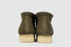 Clarks Wallabee Olive Suede 34754-5