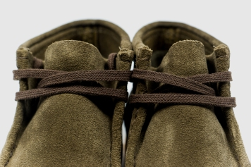 Clarks Wallabee Olive Suede 34754-6