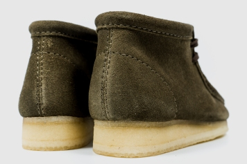Clarks Wallabee Olive Suede 34754-7