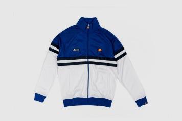 Ellesse Blue White Zip Up front